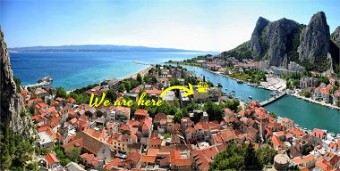 Appartements Sunce - in center with parking: A1(2+3) Omis - Riviera de Omis